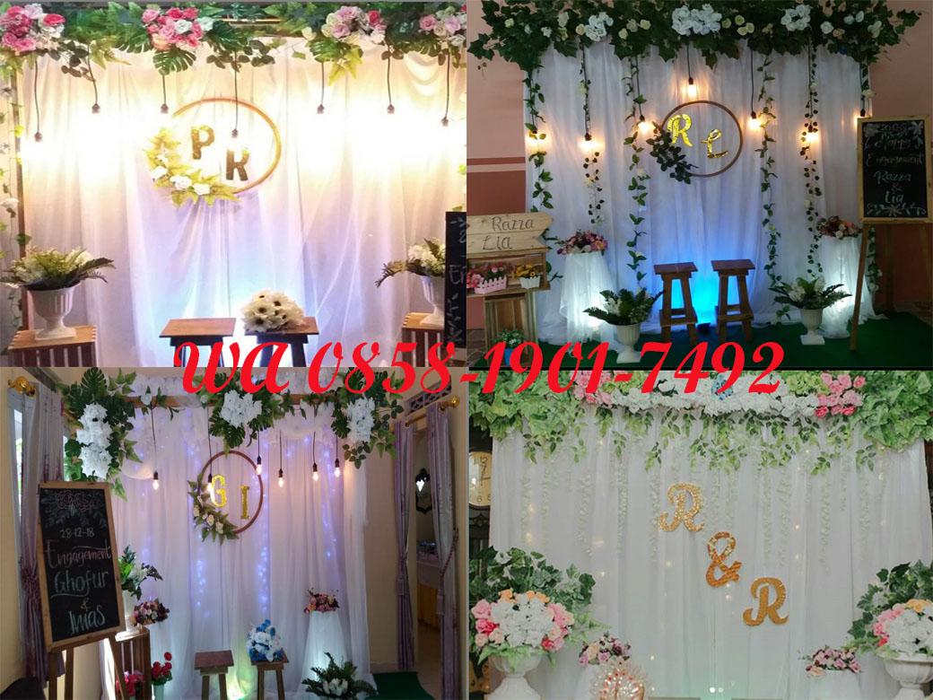 Dekorasi Wedding 3d Dekorasi Lamaran Pernikahan Wa 0858